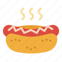 dog, fast, food, hot, junk, sausage icon