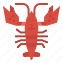 animal, food, lobster, sea icon