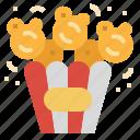 popcorn, movie, corn, snack, cinema