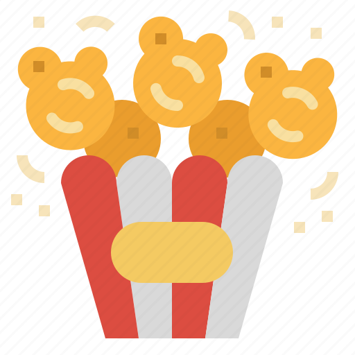 Popcorn, movie, corn, snack, cinema icon