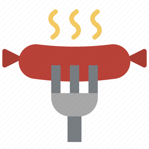 barbecue, fast, food, meat, sausage icon