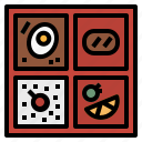 bento, fish, japanese, lunch, rice icon
