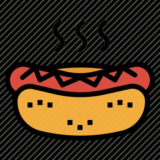 dog, fast, food, hot, junk, sausage icon