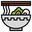 bowl, chinese, food, noodles, sticks icon