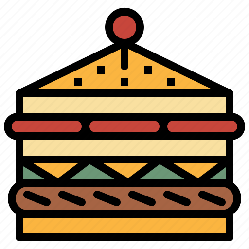 bread, cheese, food, sandwich, snack icon