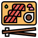 fish, food, japanese, salmon, sashimi, seafood icon