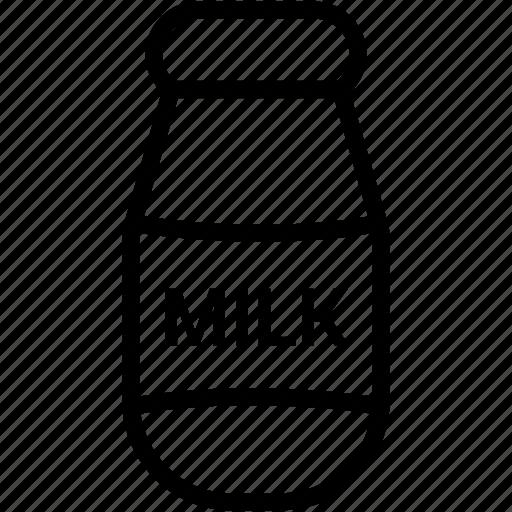 bottle, drink, food, milk icon