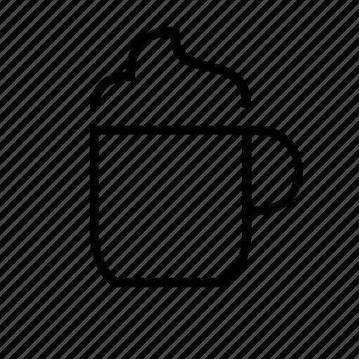 beverage, creamy, drink, foam, sundae icon