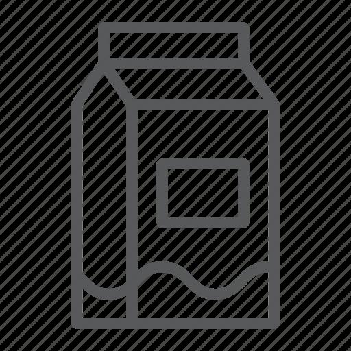 Box, carton, dairy, drink, food, milk, pack icon - Download on Iconfinder