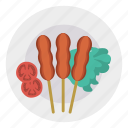 barbeque, dish, food, grill icon