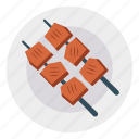 barbeque, food, grilled, plate icon