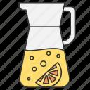 drink, drinking, food, lemon, water