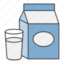 drink, drinking, food, milk, milkshake icon