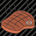 beef, eat, eating, food, steak