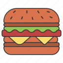 burger, eat, eating, food, hamburger icon