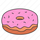 doughnut, eat, eating, food, sweet