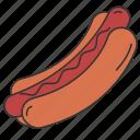 eat, eating, food, hotdog, sausage