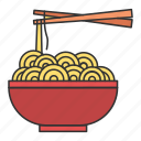 bowl, eat, eating, food, noodle icon