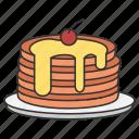 eat, eating, food, pan, pancake