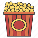 corn, eat, eating, food, popcorn