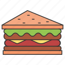eat, eating, food, salad, sandwich icon