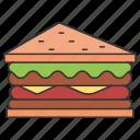 eat, eating, food, salad, sandwich