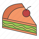 cake, eat, eating, food, tart