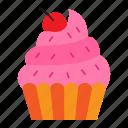 cake, cupcake, eat, eating, food