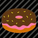 doughnut, eat, eating, food, sweet icon