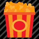 corn, eat, eating, food, popcorn icon