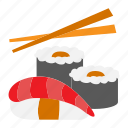eat, eating, fish, food, sushi icon
