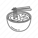 bowl, food, meal, noodle, ramen, steam, steaming bowl icon
