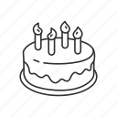anniversary, birthday, cake, dessert, food, party, sweet icon