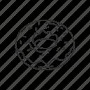 dessert, doughnut, emoji, food, round food, snack, sweet icon