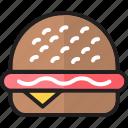 burger, cheeseburger, eating, fast food, food, hamburger, restaurant icon