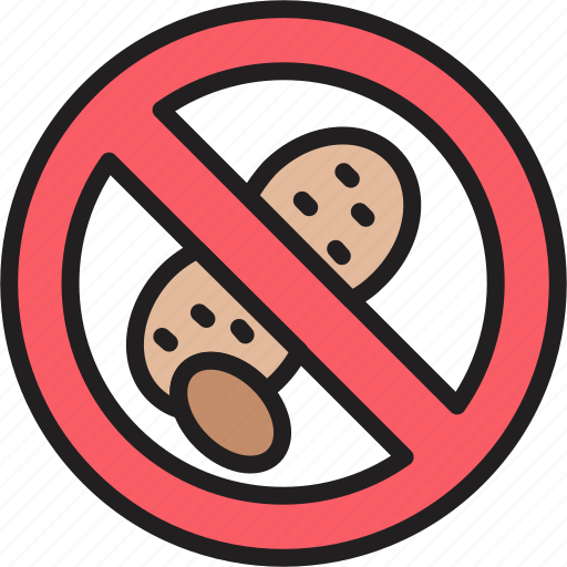 food label, no nuts, nut free, nut intolerance, nuts allergy, peanut free icon
