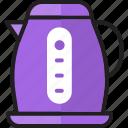 appliance, electric, electric kettle, kettle, power, teakettle, teapot icon