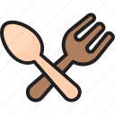 cooking, fork, fork and spoon, gastronomy, knife, restaurant, spoon icon