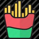 chips, food, french, fries, potato, potato fries, sweet icon