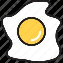bread, breakfast, egg, fried egg, kitchen, omelet, yolk icon
