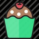 bakery, brownie, cake, cupcake, dessert, muffin, sweet
