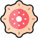 chocolate donut, cooking, donut, food, sweet, topping, yummy icon