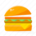 burger, food, fruit icon