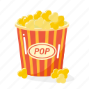 food, fruit, popcorn icon