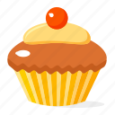 cupcake, food, fruit icon