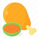 chicken, food, leg, meat icon