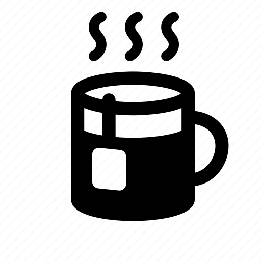 beverage, cup, drink, hot, mug, tea, tea bag icon
