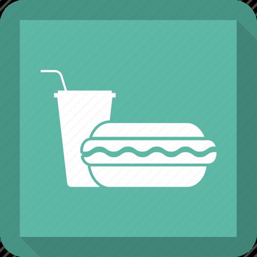 burger, drink, food, junk food icon