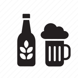 beer, beverage, bottle, drink, mug, stein, tankard icon