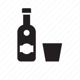 alcohol, alcoholic, beverage, bottle, drink, glass, vodka icon